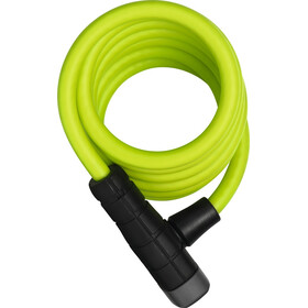 ABUS Primo 5510 Key Spiral Cable Lock 180cm SCMU lime green